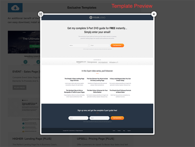 How to use the PlusPack templates [PlusPack] - OptimizePress ...