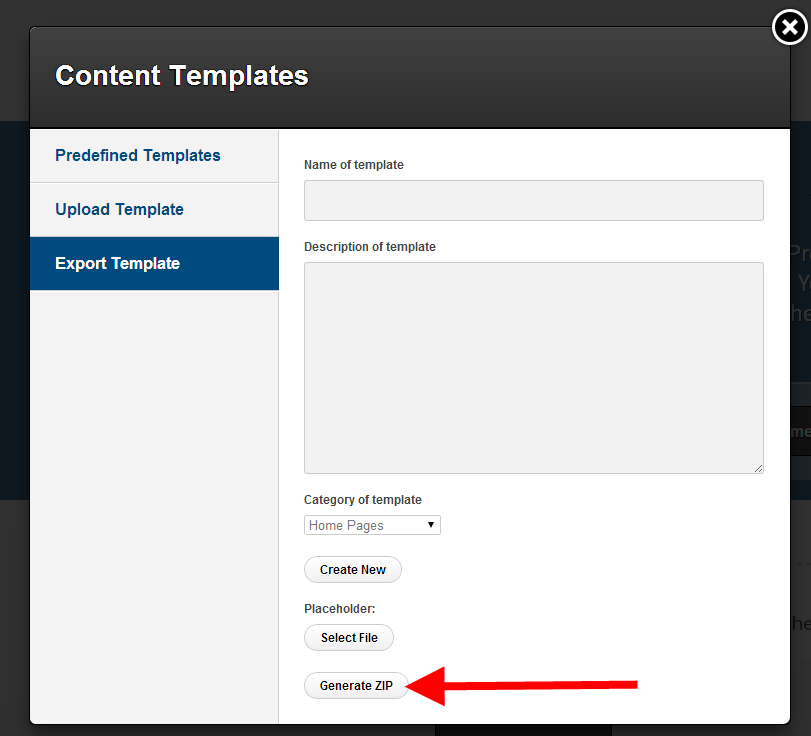how to export a page template optimizepress knowledge base