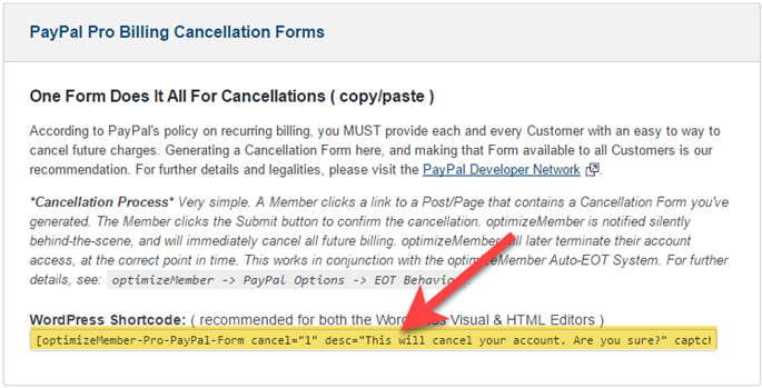 Adding subscription cancellation buttons & forms to your