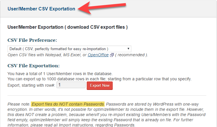 How to import/export users with OptimizeMember - OptimizePress