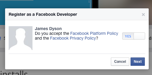 Create a Facebook App ID for social sharing element - OptimizePress