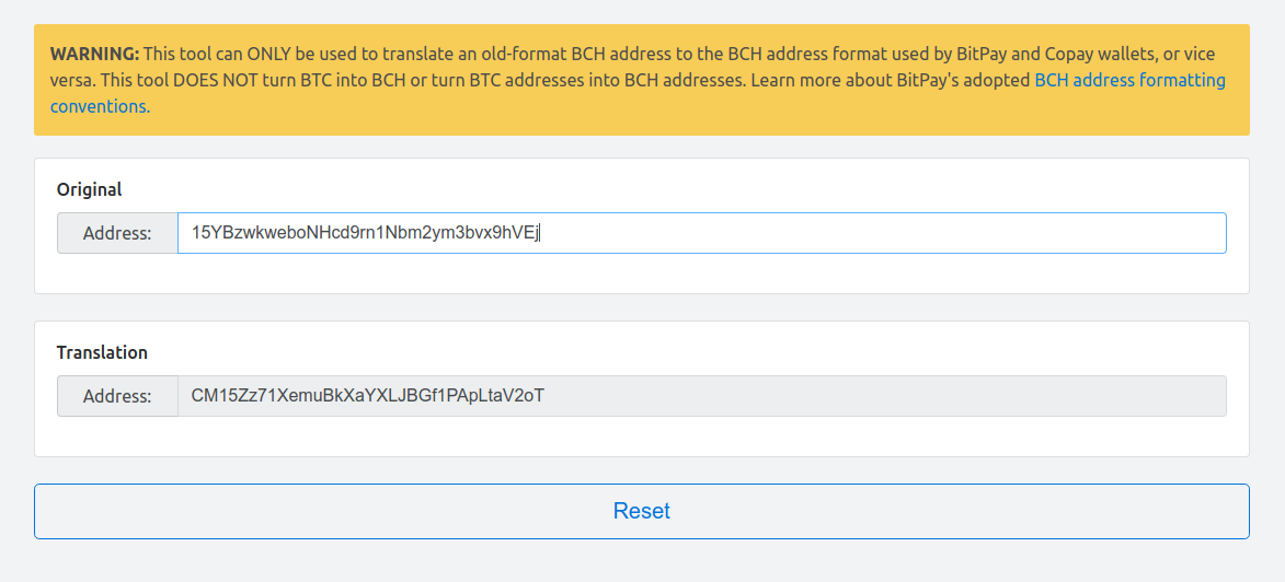 My copay wallet wont let me transfer my bch exodus knowledge base now a word of caution using this tool does incur a small amount of risk for example if the site is ever hacked the resulting address you get back could ccuart Gallery