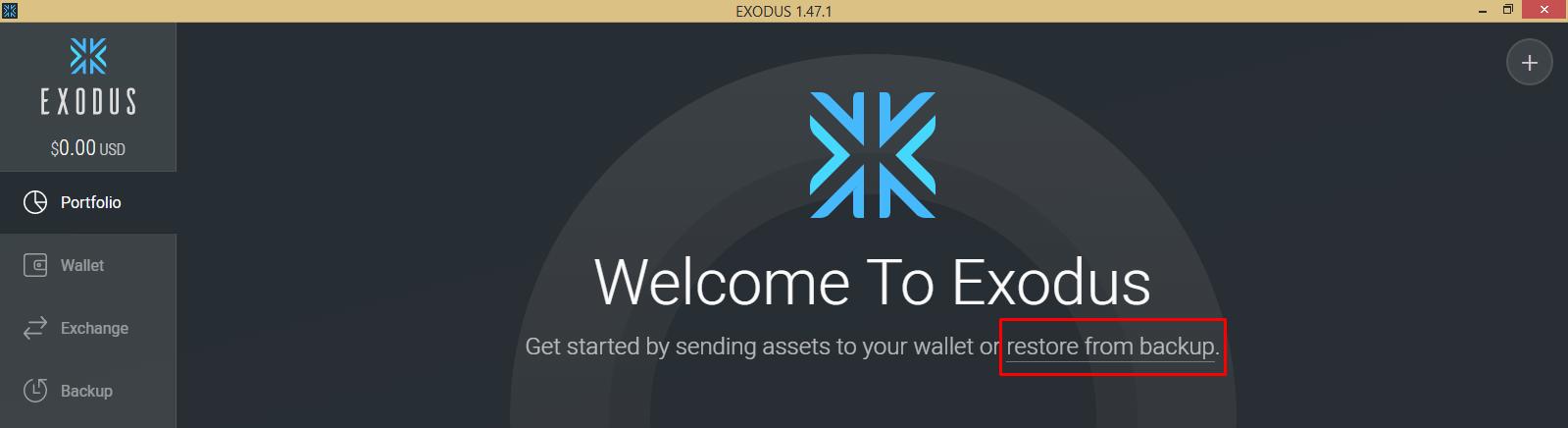 Giao diện Exodus
