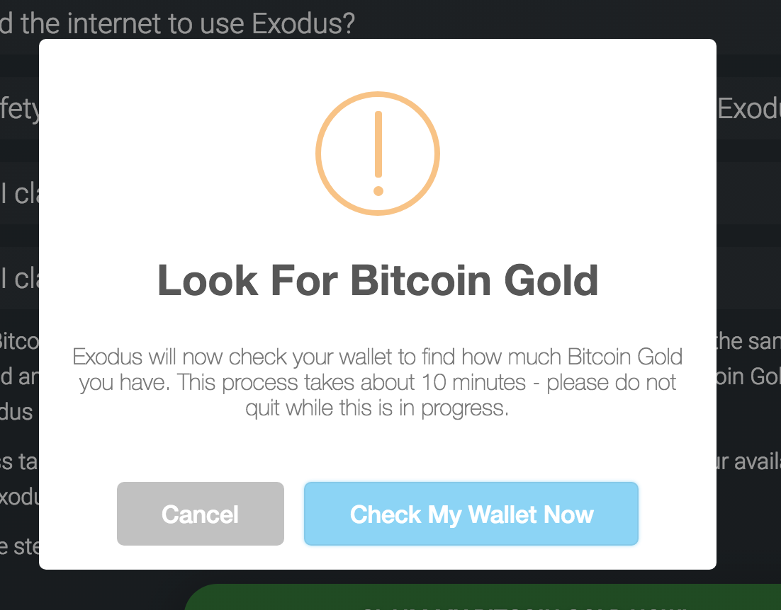 How do i claim bitcoin gold exodus knowledge base step 7 exodus now tells you the total amount of bitcoin gold you have to send out and also gives you the network mining fee this transaction will cost to ccuart Gallery