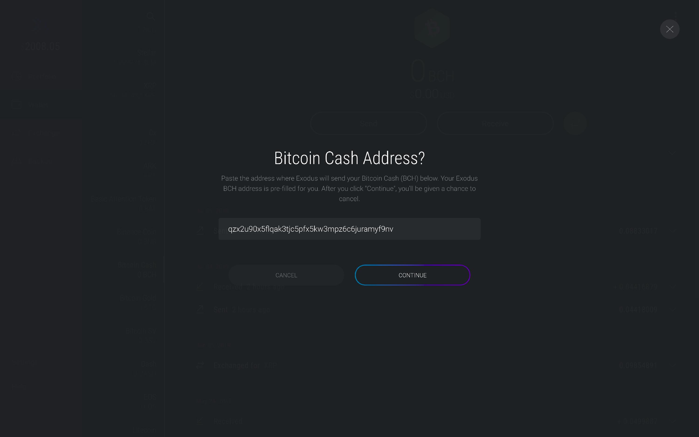 How do I claim Bitcoin Cash? - Exodus Support