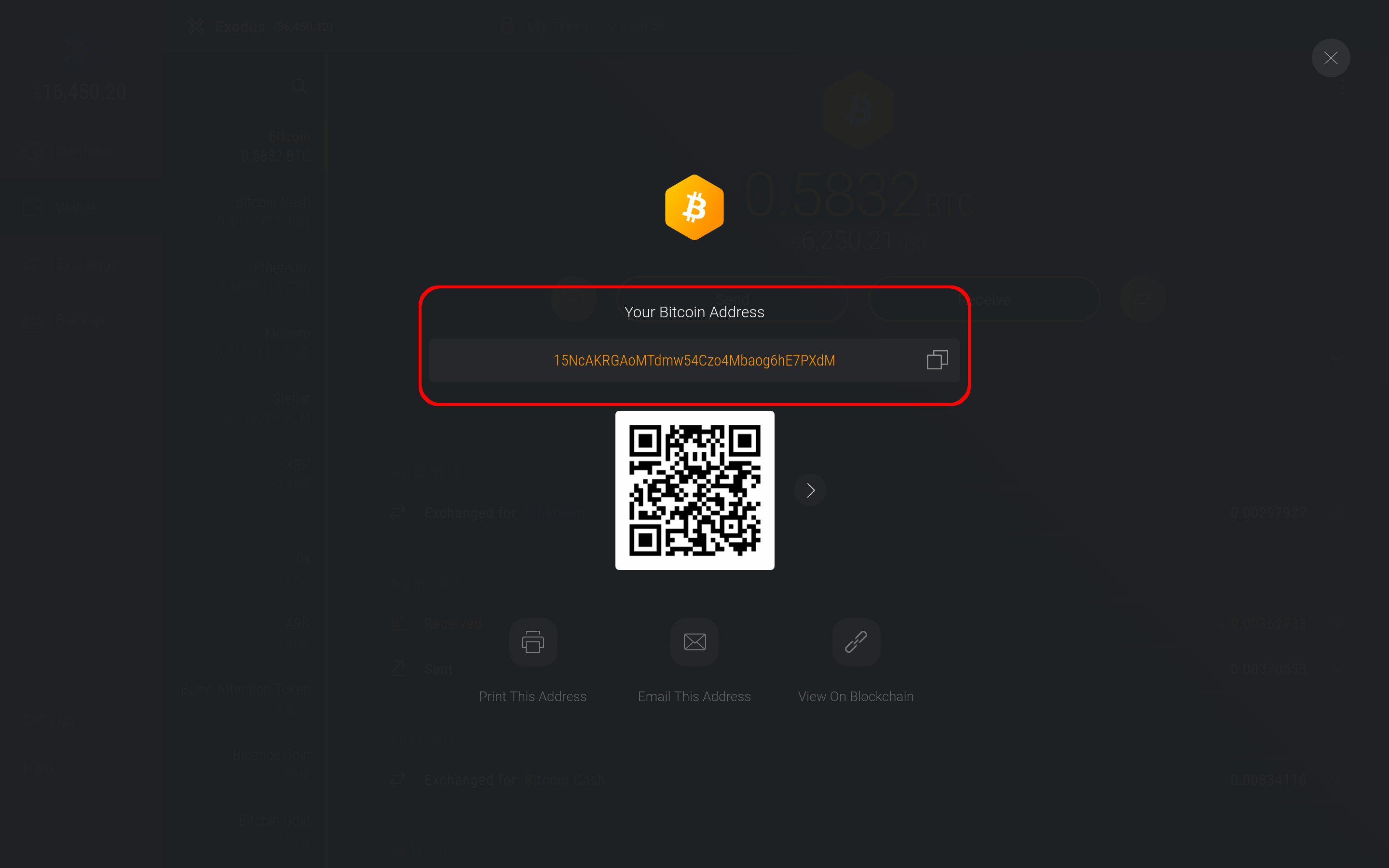 How do I receive cryptocurrency in my wallet (Bitcoin, Ethereum, etc
