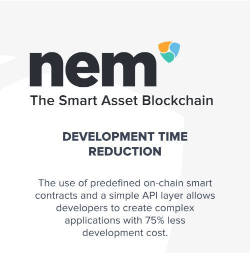 NEM Coin (XEM) claims to drastically reduce development time and cost