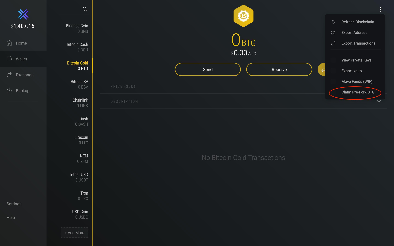 bitcoin gold address check bitcoin investment trust put option