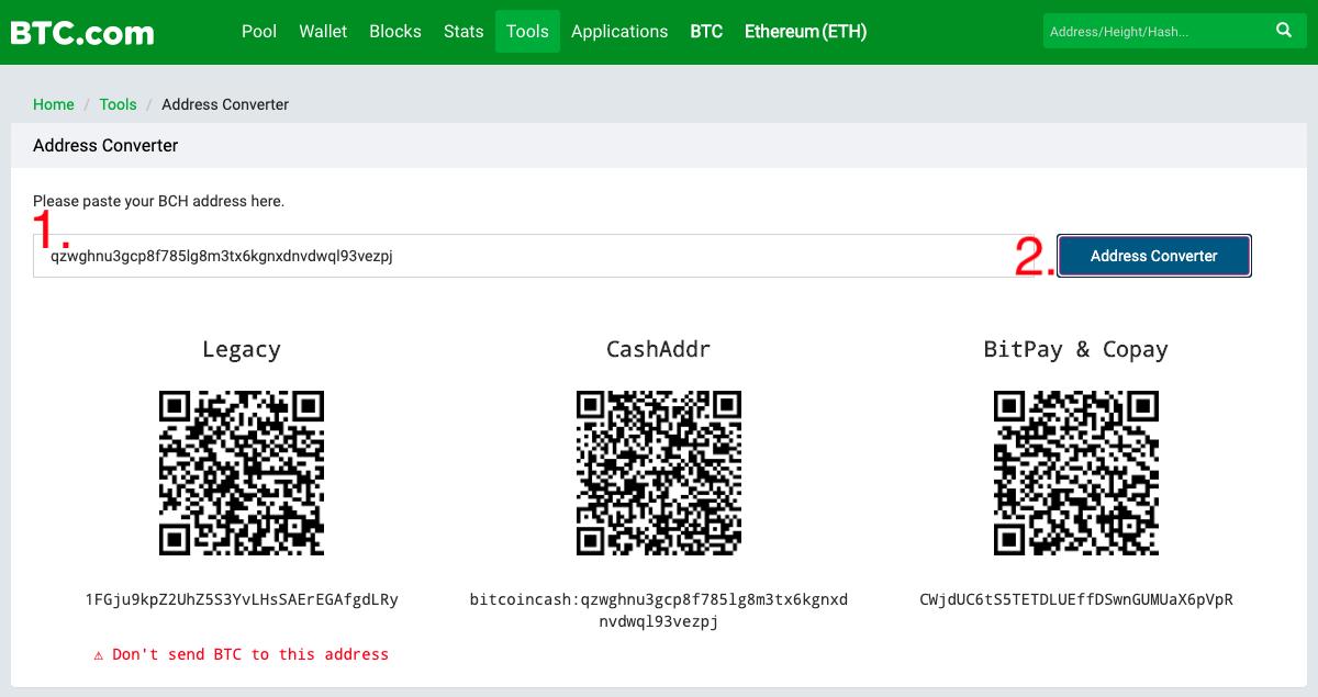 bitcoin cash address explorer