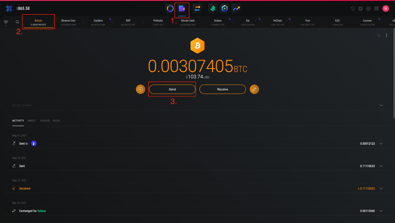 Wie schicke ich Bitcoin von Paypal nach Exodus?