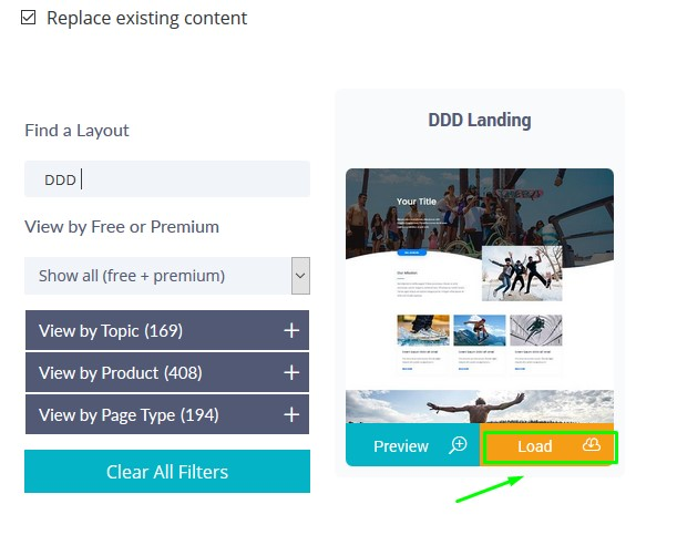 Free Divi Landing Page Layout - How to Load and Edit this