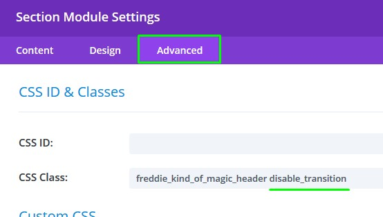 How to disable section transitions - Knowledge Base and FAQ