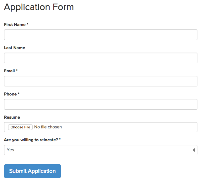 How Do I Customize The Application Form The Candidates Fill Out