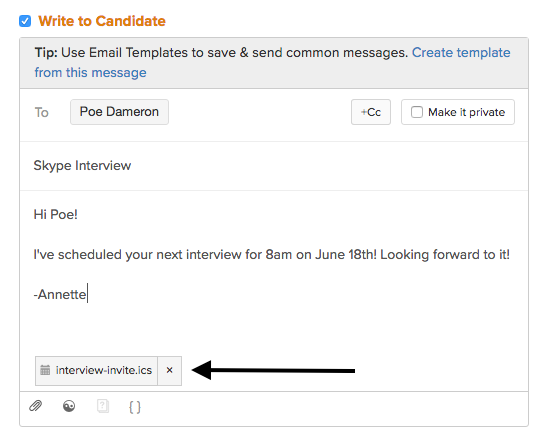 How Can I Set Up An Interview With A Candidate And My Team Members