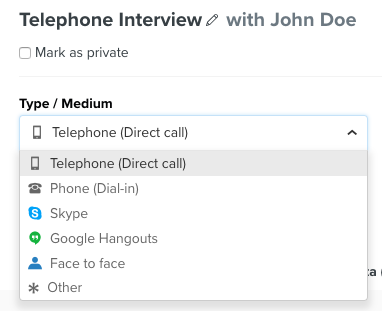 How can I set up an interview with a candidate and my team