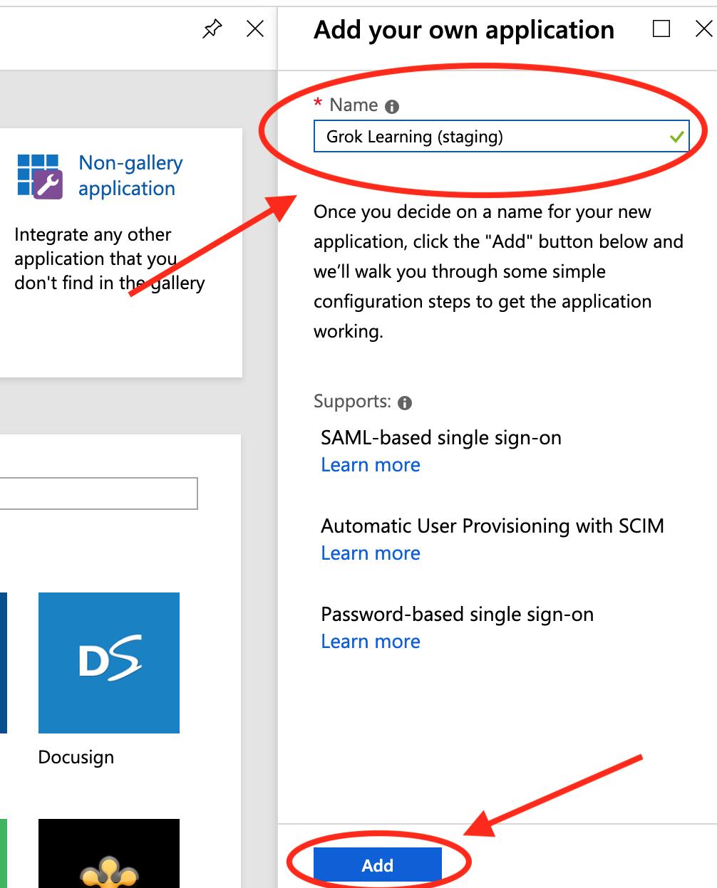 SAML SSO - I'm using Azure AD (Microsoft, Cloud) - Grok