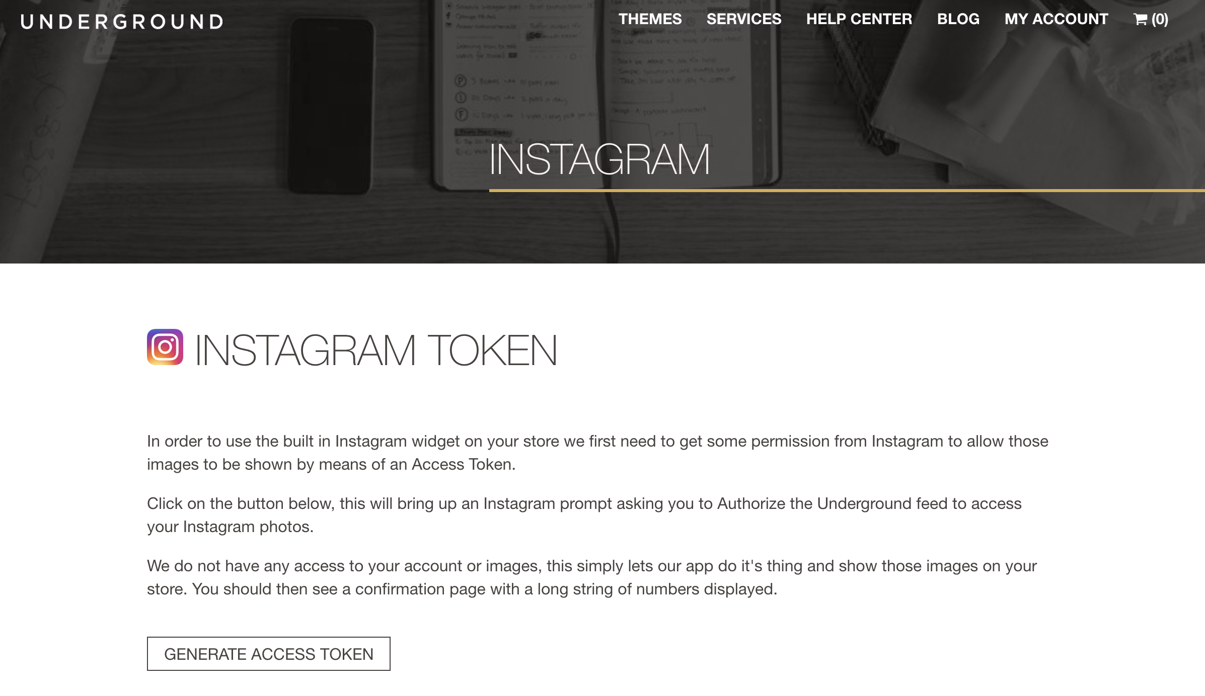 How to add an instagram feed to the homepage - We are Underground