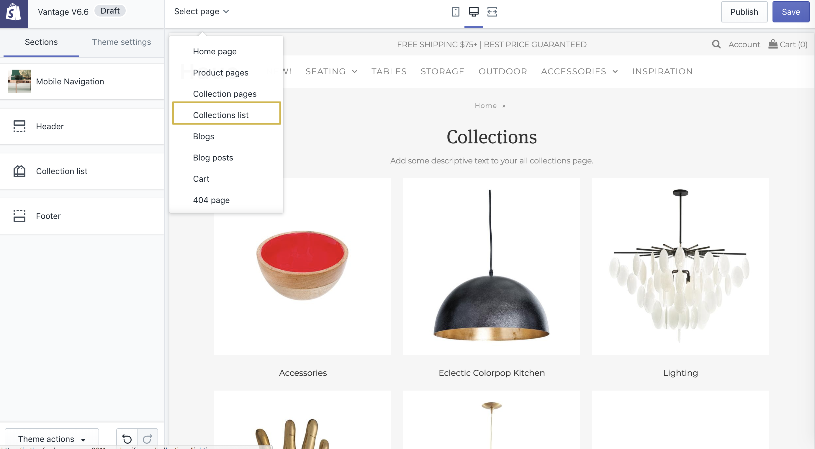 ac13f54dfaee To edit the all collections page, from your theme editor go to the template  picker and choose Collections list.
