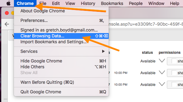 How To Clear Cache in Chrome - Embershot: Desktop