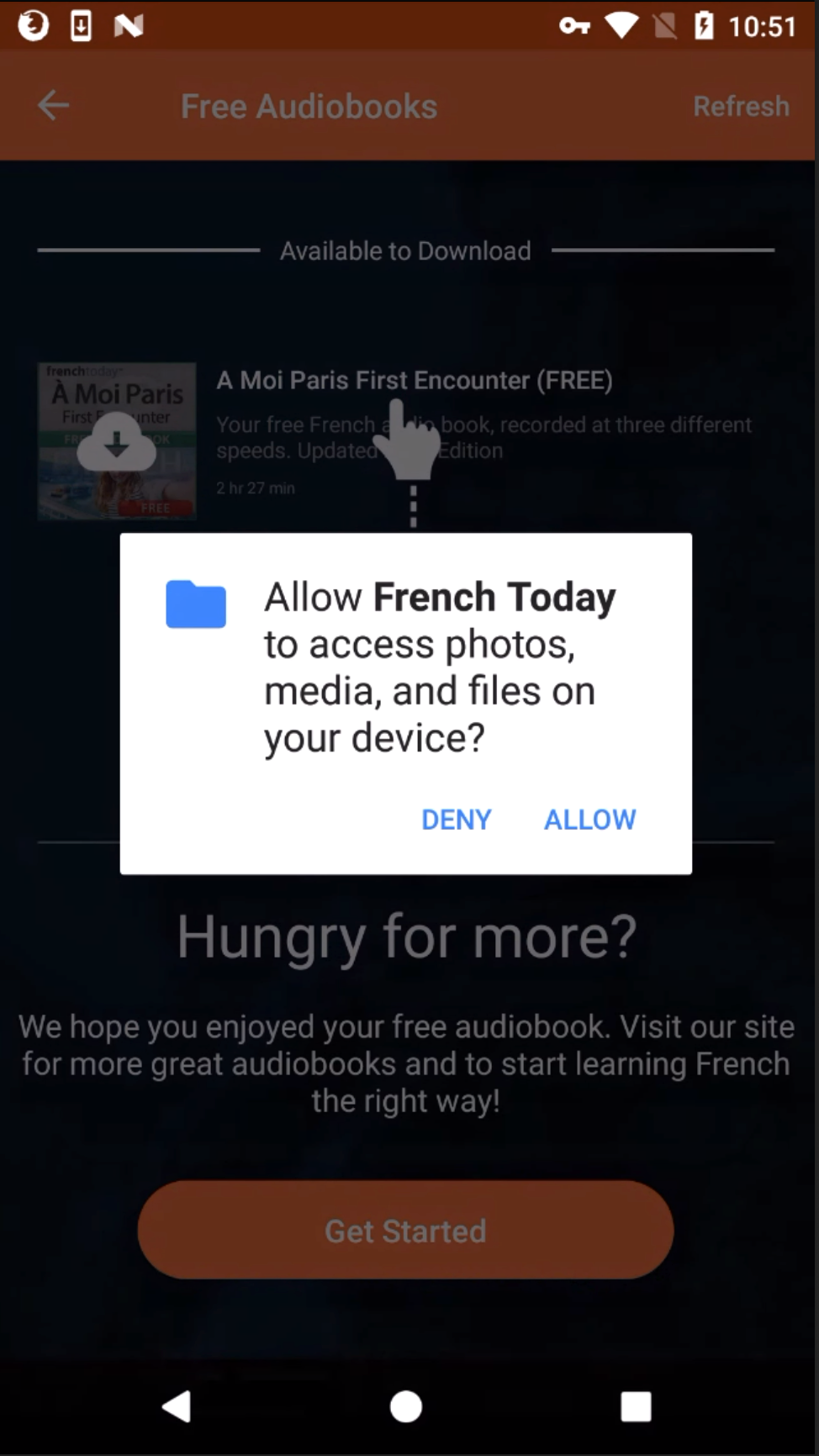Why Does the Android App Asks Me For Media Access? - French