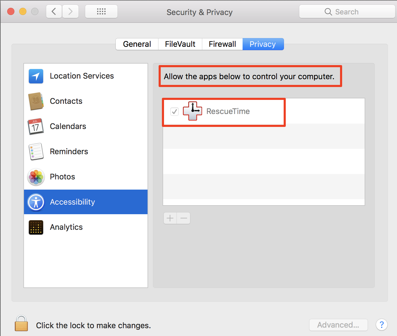 How Do I Enable Accessibility Permissions On Mac Os X Rescuetime