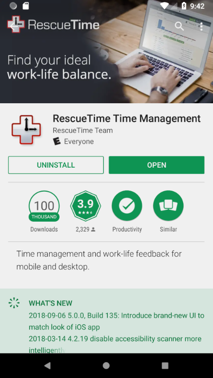 Android - Installation and Activation - RescueTime