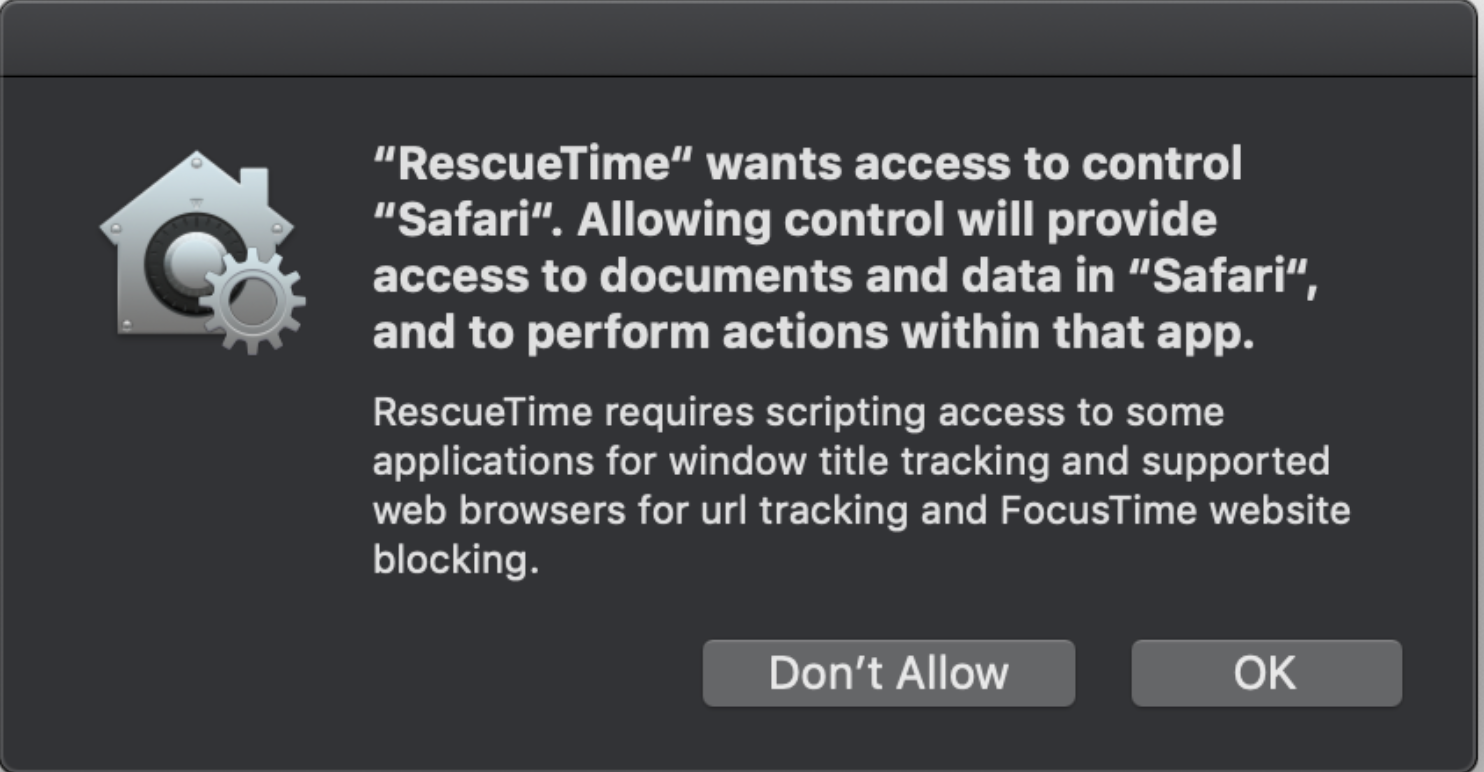How can I fix permissions on Mojave? - RescueTime