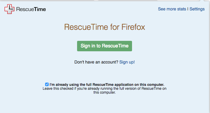 Installing RescueTime for Firefox - RescueTime