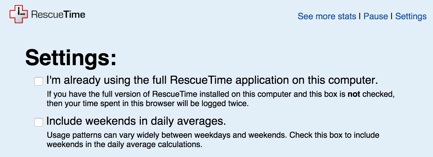 Using RescueTime with a non-supported browser - RescueTime