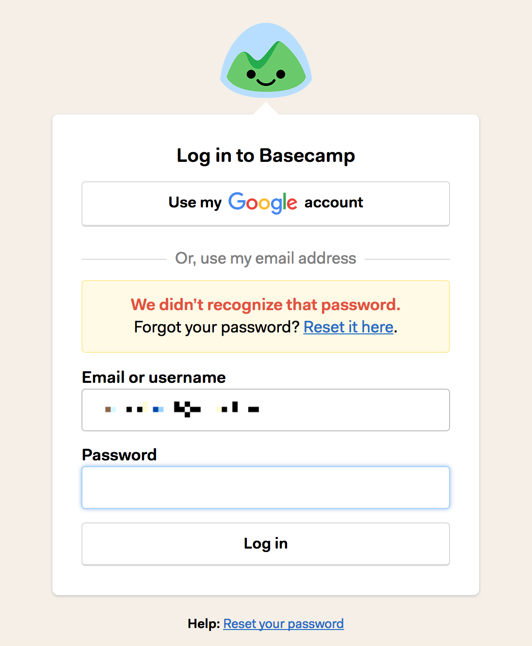 Logging In - Basecamp 3 Help