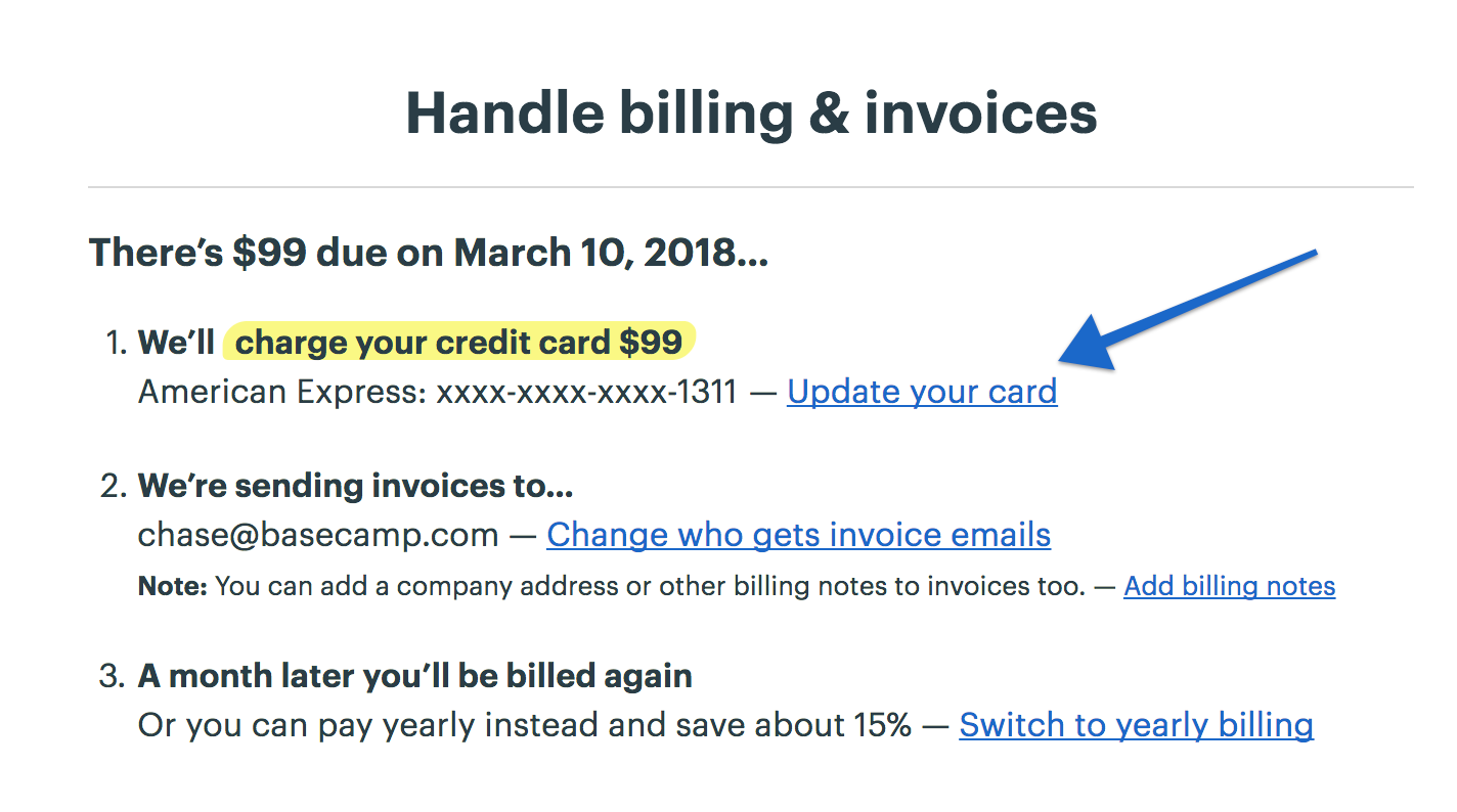 Handling Billing And Invoices Basecamp Help - Invoice 3