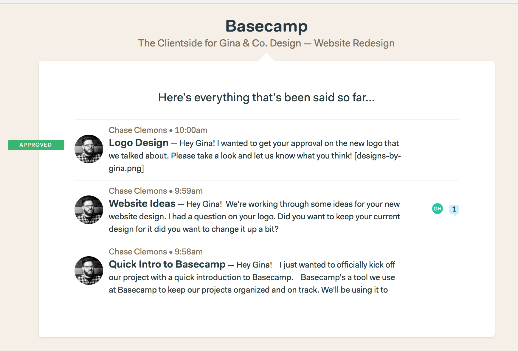 Using the Clientside - Basecamp 3 Help
