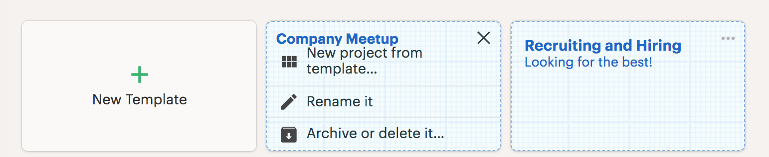 Templates - Basecamp 3 Help