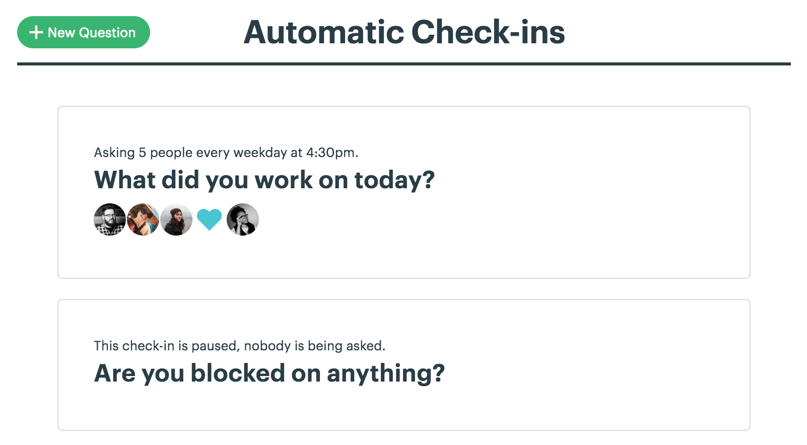 Automatic Check-Ins - Basecamp 3 Help