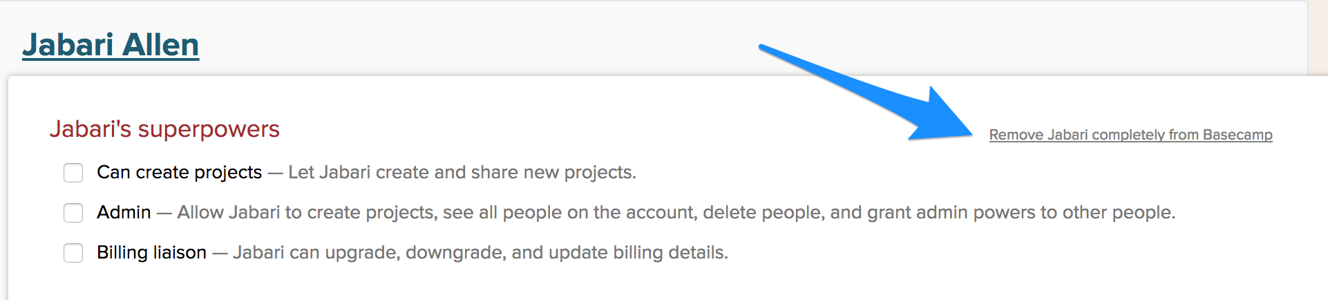 Adding and Removing People - Basecamp 2 Help