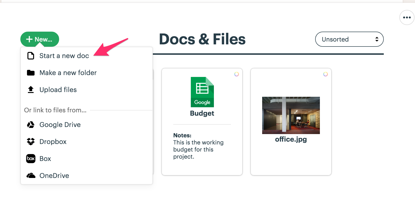 Docs & Files - Basecamp 3 Help