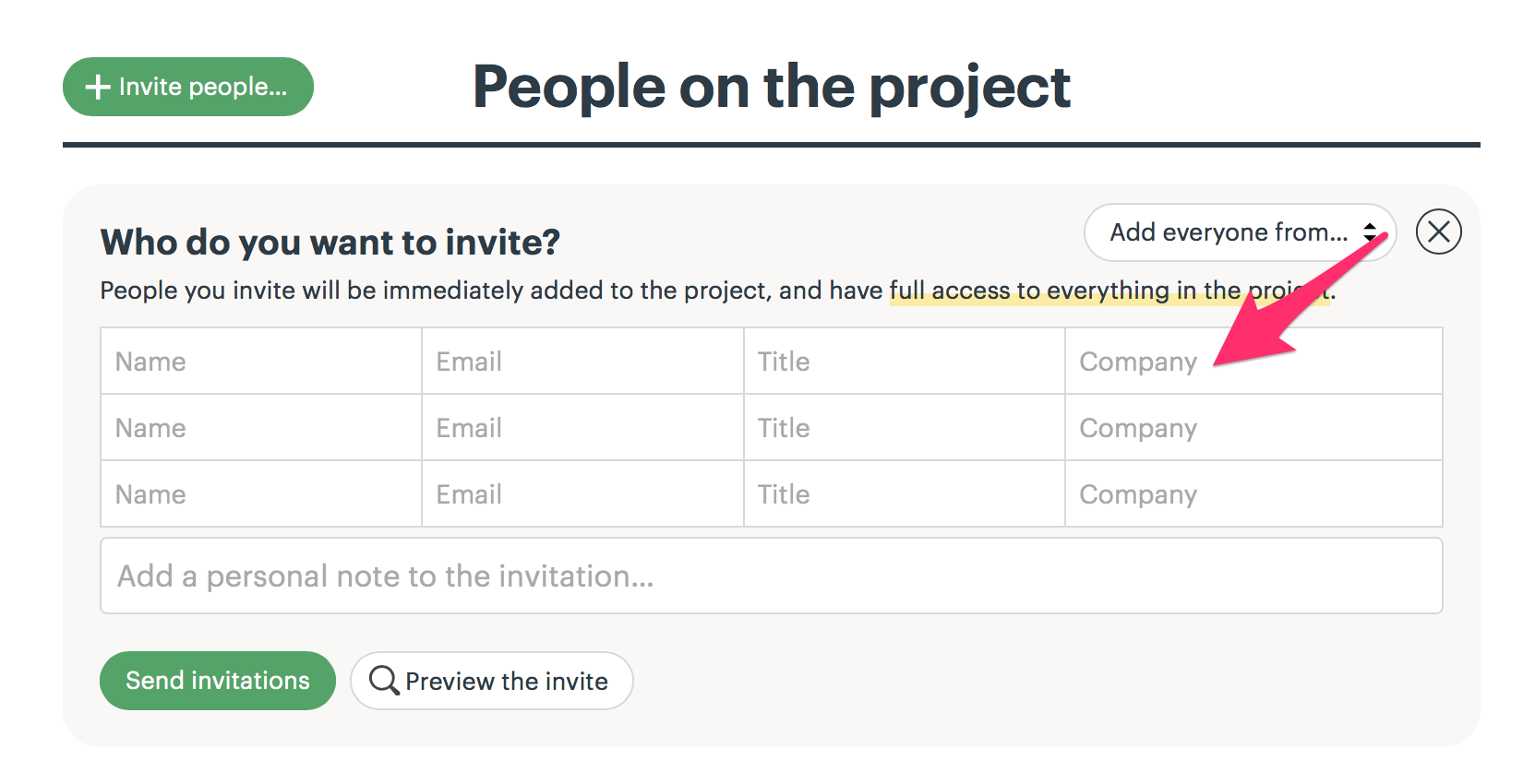 inviting people to a project basecamp 3 help