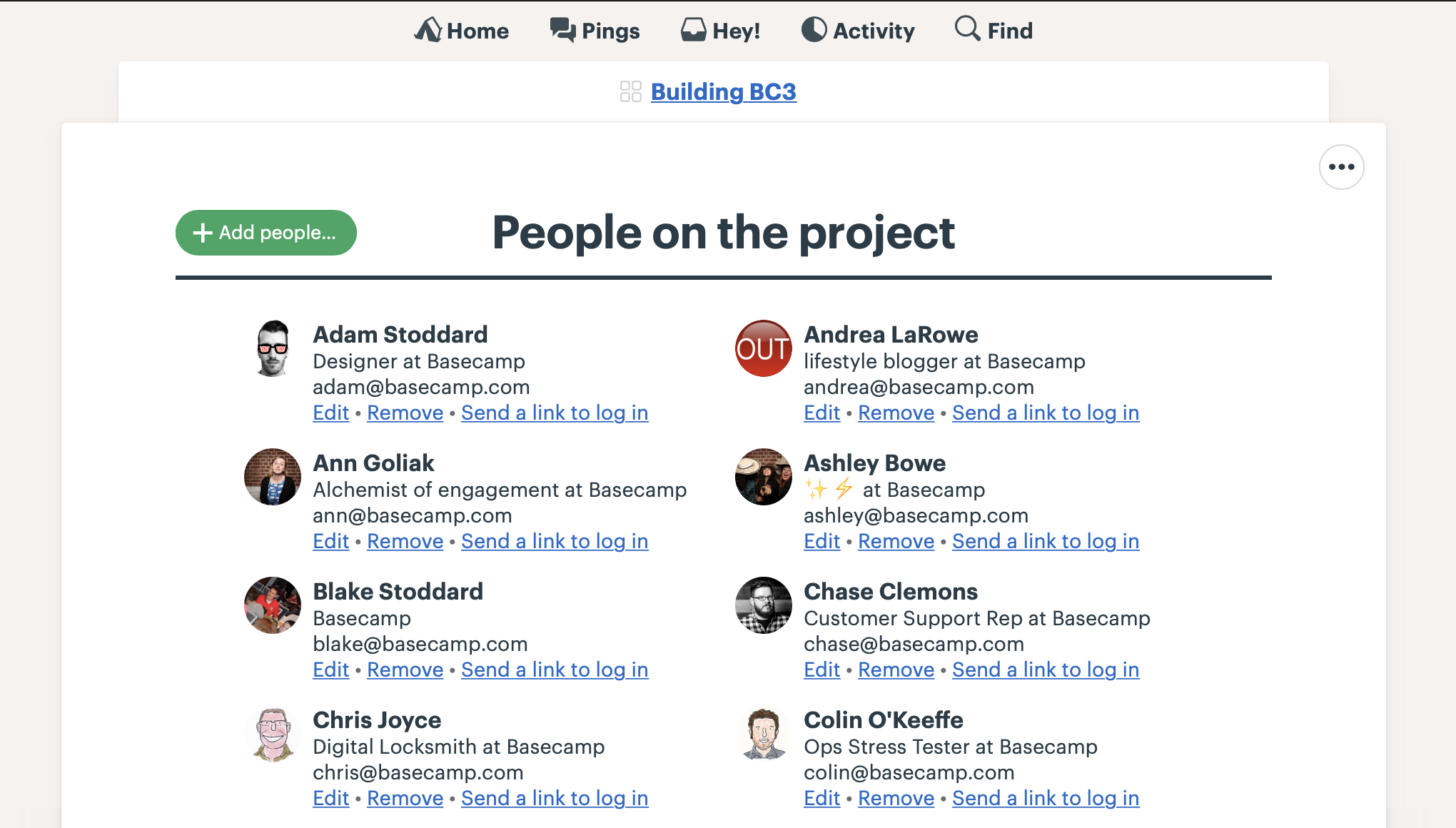 Inviting People to a Project - Basecamp 3 Help