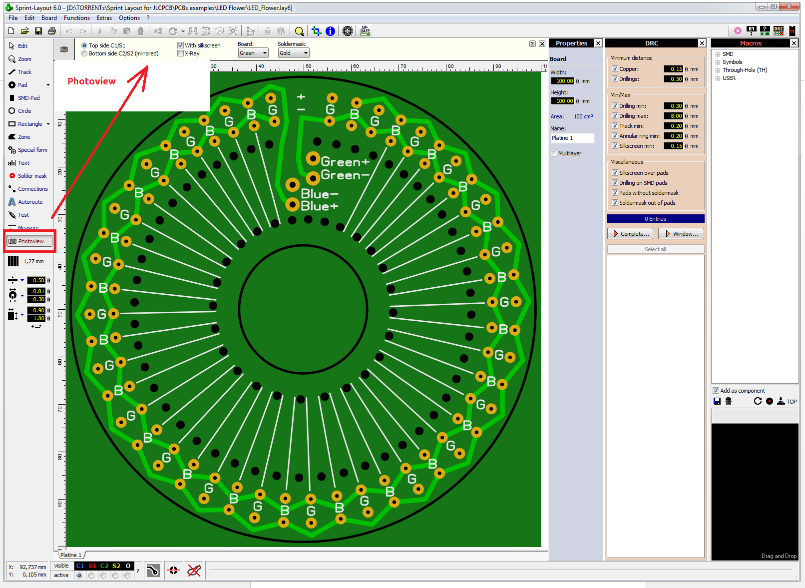 How To Export Sprint Layout Pcb To Gerber Files Jlcpcb Help Support