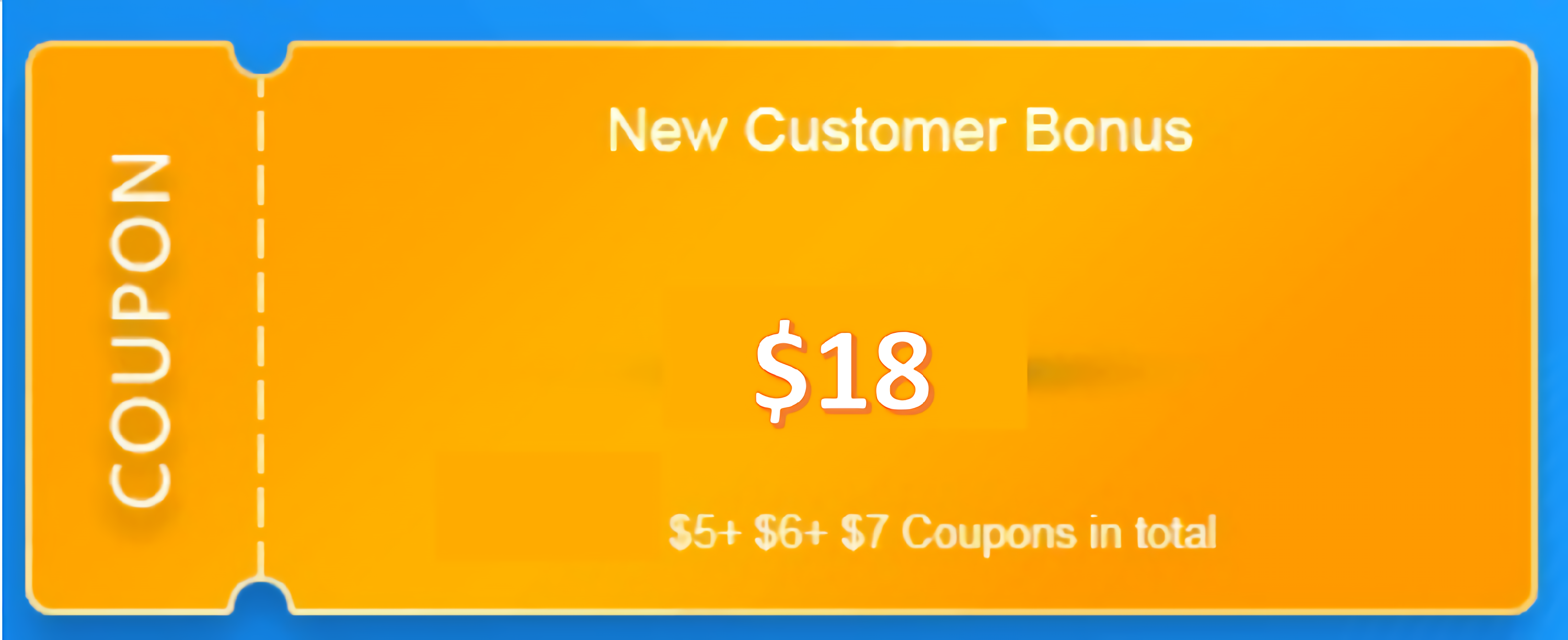 $18 coupon for new customers