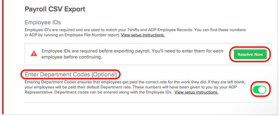 ADP Workforce Now Payroll Export - 7shifts Support