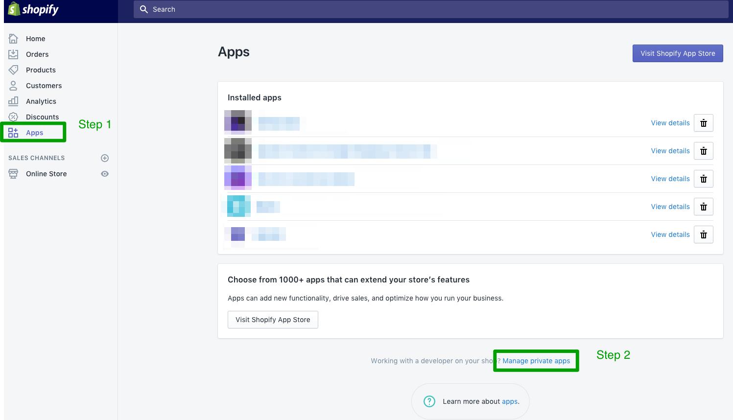 Generating a Shopify API Key & Password - Dynamic Creative