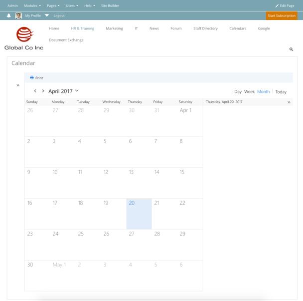 Embedding and Displaying an Outlook Calendar - MyHub