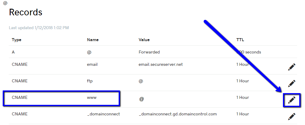 DNS Settings for a Godaddy Domain - Easy Storage Solutions