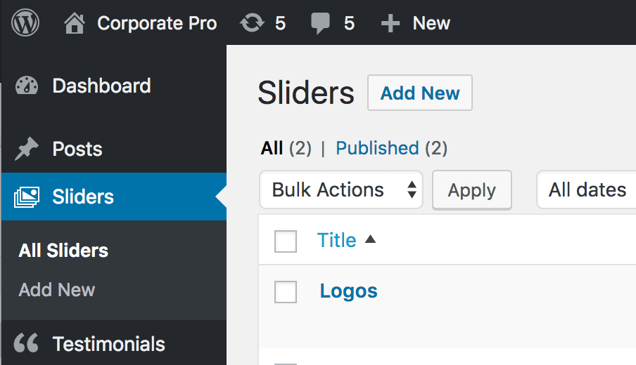Corporate Pro: Creating a Slider - SEO Themes