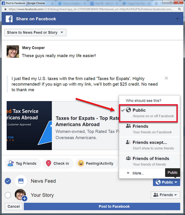 How to Copy Your FB Post Link - TFX User Guide