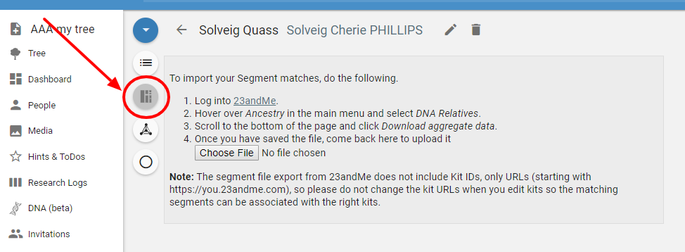 Getting Started: How to Import 23andMe DNA Data