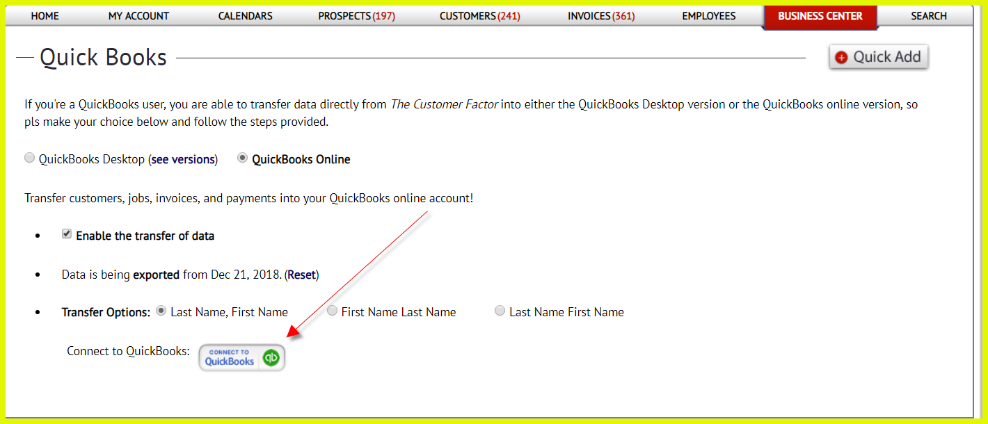 Importing from QuickBooks Online - The Customer Factor
