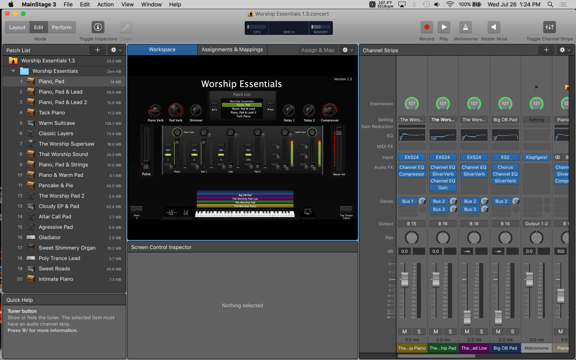 How To Add Ambient Pad Audio Files to MainStage 3 - That