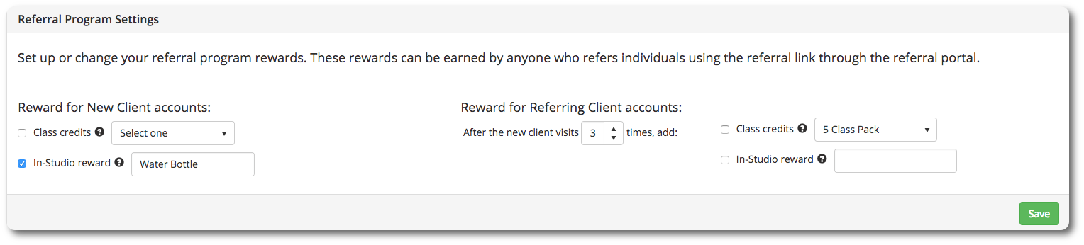 Configure and Use a Referral Program - Venga Move Support Center